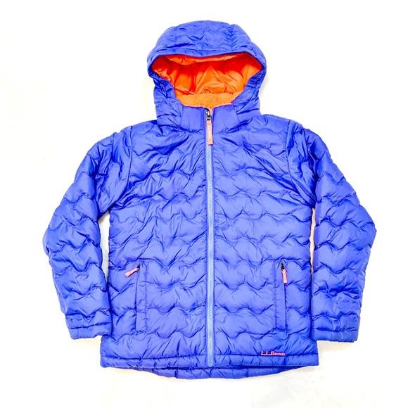 L.L.Bean Fleece-Lined Down puffer Jacket girls